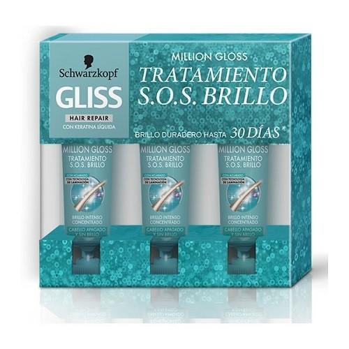 GLISS TARTAMIENTO SOS MILLION GLOSS  3X20ML