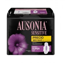 AUSONIA SUPER SENSITIVE COMPRESAS 12UND