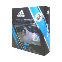ADIDAS ICE DIVE ESTUCHE COLONIA  EAU DE TOILETTE 50ML + GEL 3 EN 1 250ML