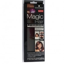 DIS2956 EXTENSIONES MAGIC HAIR CASTAÑO ROJIZO 35CM