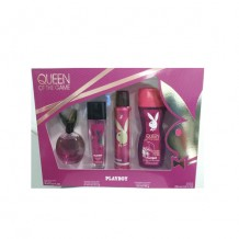 COS3127 ESTUCHE PLAY BOY QUEEN OF THE GAME EDT 90ML+DEO75ML+DEO SPRY 150 ML GEL 250ML