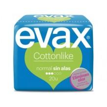 DIS3778 EVAX COTTON LIKE NORMAL SIN ALAS 20 UND.