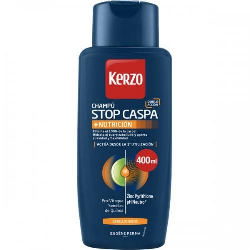 KERZO CHAMPU STOP CASPA + NUTRICIÓN 400ML