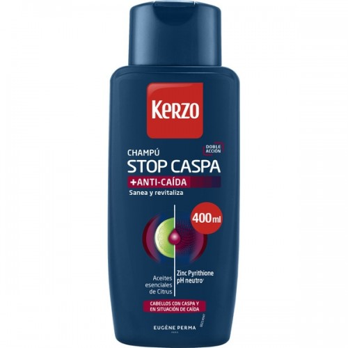 KERZO CHAMPU STOP CASPA + ANTI-CAÍDA 400ML